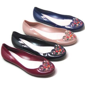 Termurah-Jelly Shoes Bara Bara Sepatu Wanita Flat Shoes Import 823LR Warna Dikirim Random