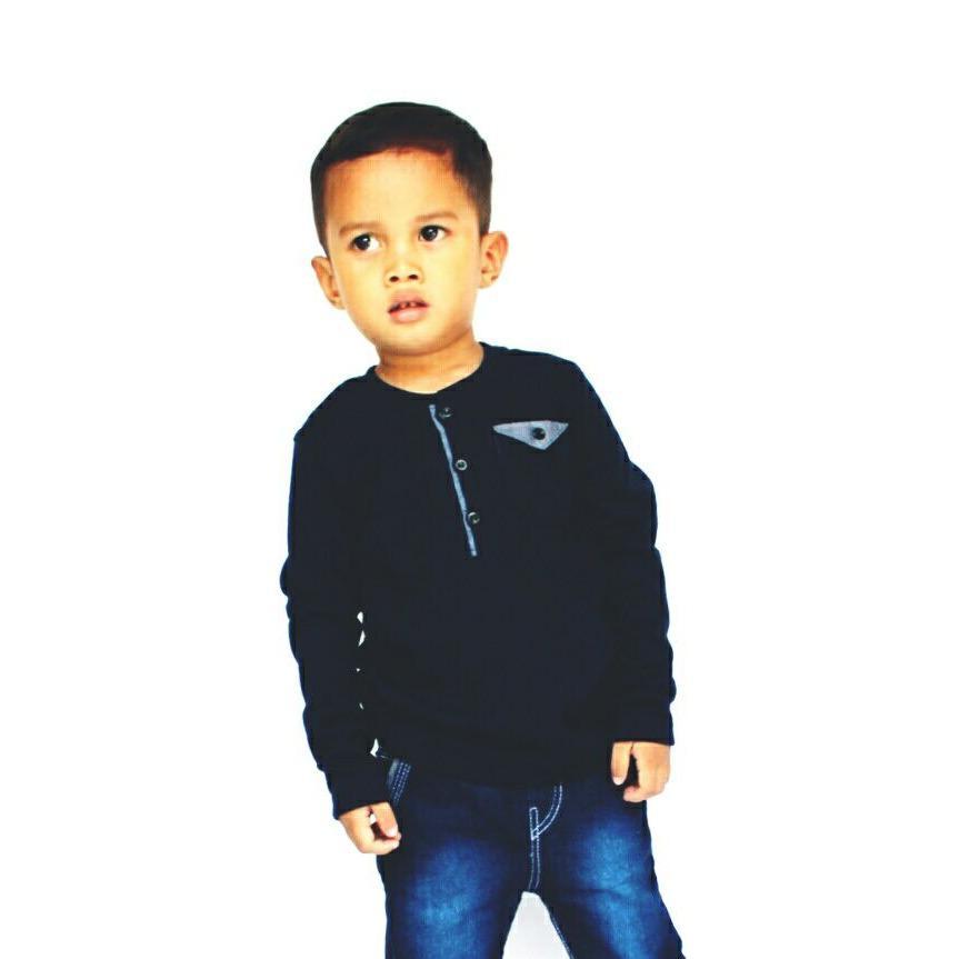 baju jen`s anak laki-laki umur 1-2 tahun warna blue