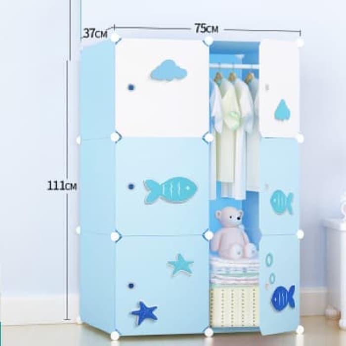 Promo  lemari pakaian rak baju hello kitty sanrio furniture sepatu buku korea  Original
