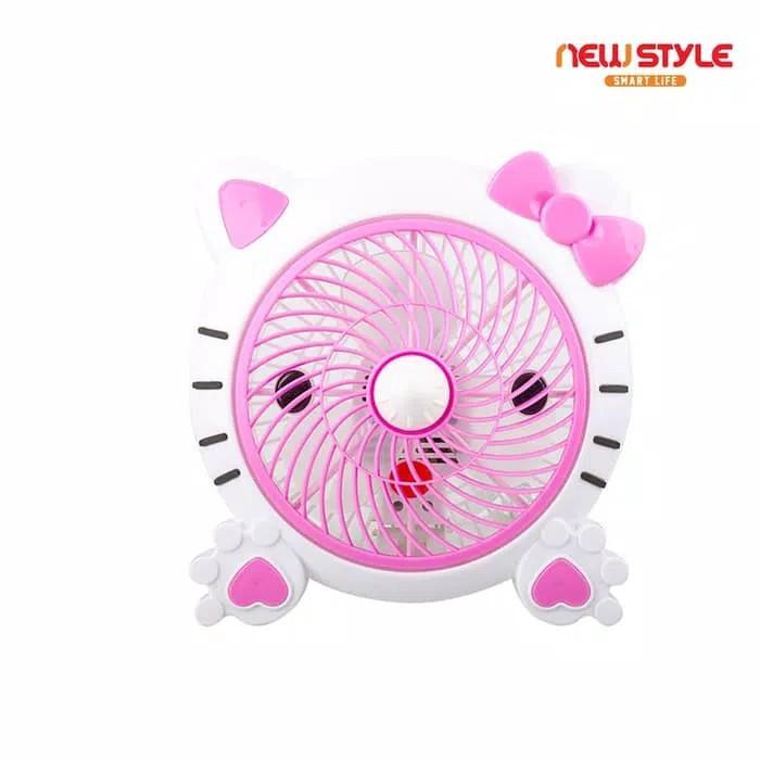 Newstyle Kipas angin meja colok listrik Hello Kitty kartun karakter lucu Fan
