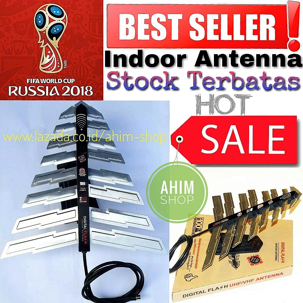 Antena Dalam Digital Flash New Model Indoor UHF VHF Tipe S 019 D Antenna by a0b13e50ef