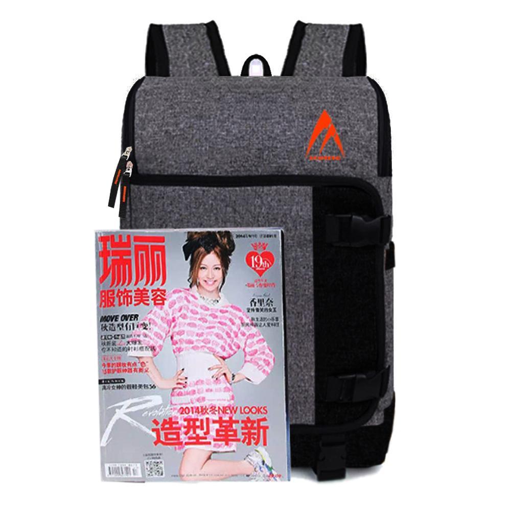 Backpack Metric M-34685 Tali Samping Tas Laptop Tas Kerja Tas Sekolah Tas Ransel Pria Tas Wanita Tas Outdoor Backpack Men Tas Korea Tas Model Baru - Grey + Raincover