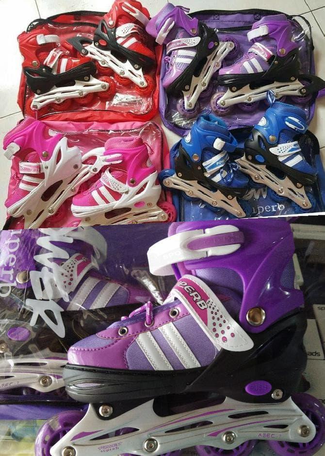Jual Sepatu Roda/ Inline Skate Jahit Bajaj Power Seventh Merah Limited