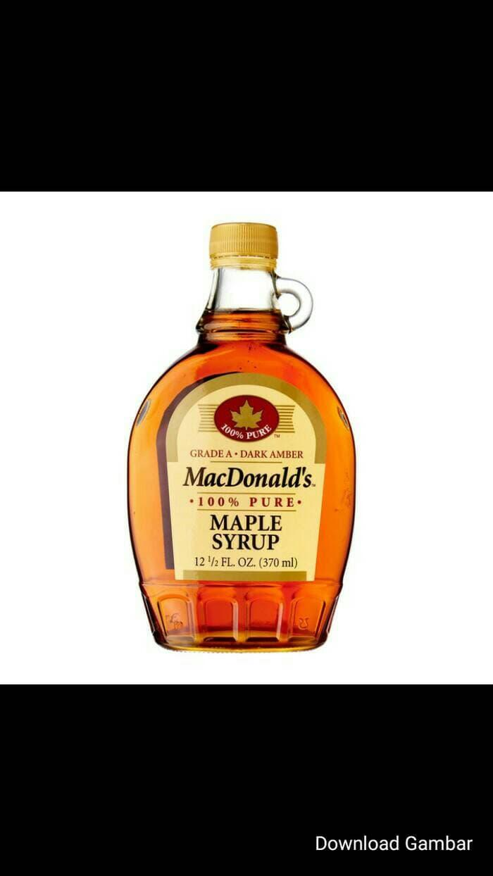 Terbaru!! Macdonald'S 100% Maple Syrup 370Ml-Sirup Maple Import - ready stock