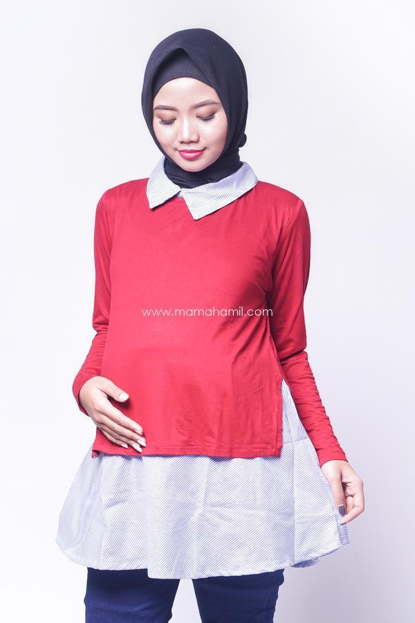 Mama Hamil Baju Hamil Menyusui Kerja Katun Salur Korea Style / Baju Hamil Untuk Kerja / Baju Hamil Muslim / Baju Hamil Seksi Baju Hamil Gamis / Baju Hamil Kerja Modis / Baju Hamil batik / Baju Hamil Menyusui