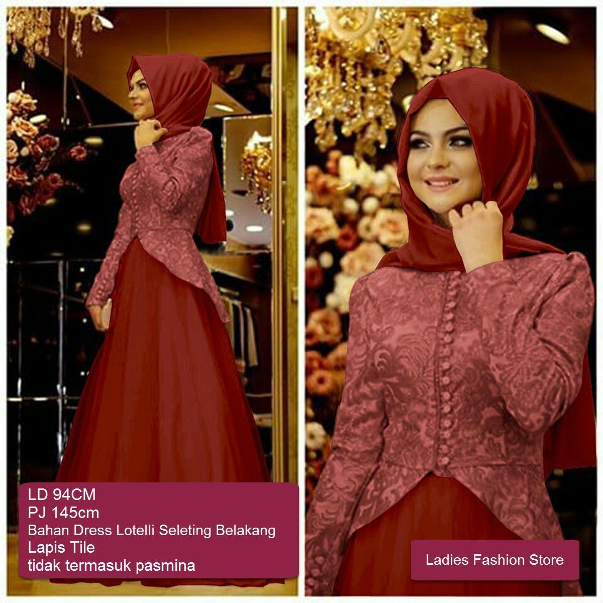 LF Dress Muslimah Panjang / Terusan Gamis Lebaran Terbaru 2018 / Setelan Gamis Wanita Murah dan Bagus / Gamis Syari Syar'i / Baju Muslim Murah / Dress Pesta Pernikahan / Pakaian Muslim Terkini / Hijab Wanita Model Baru / Gamis Cantik (lemasa) SS MARUN