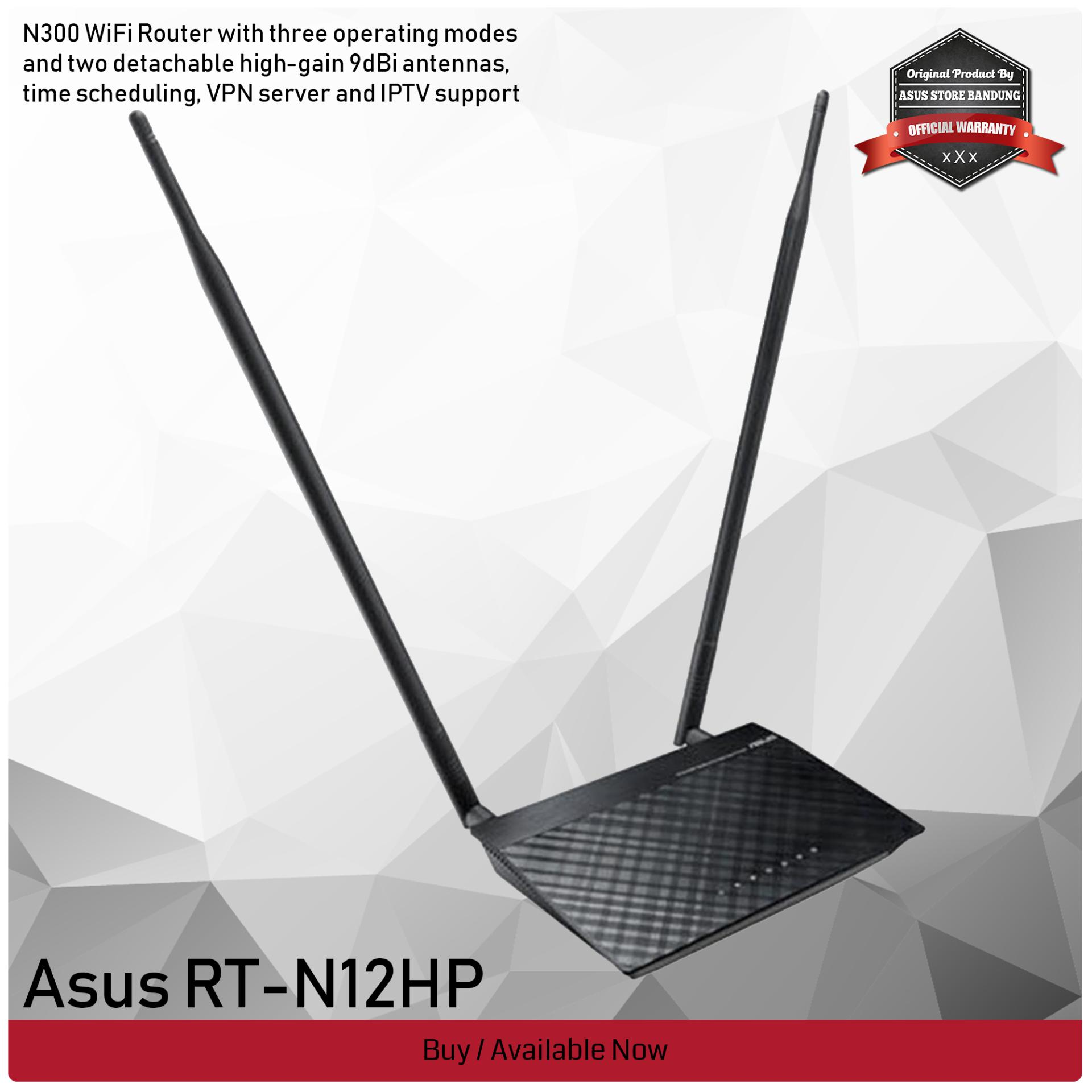 Routers Asus Wireless N Router Rt N12 Plus N12hp N300 Wifi Range Extender Access Point 3 Years Official Warranty