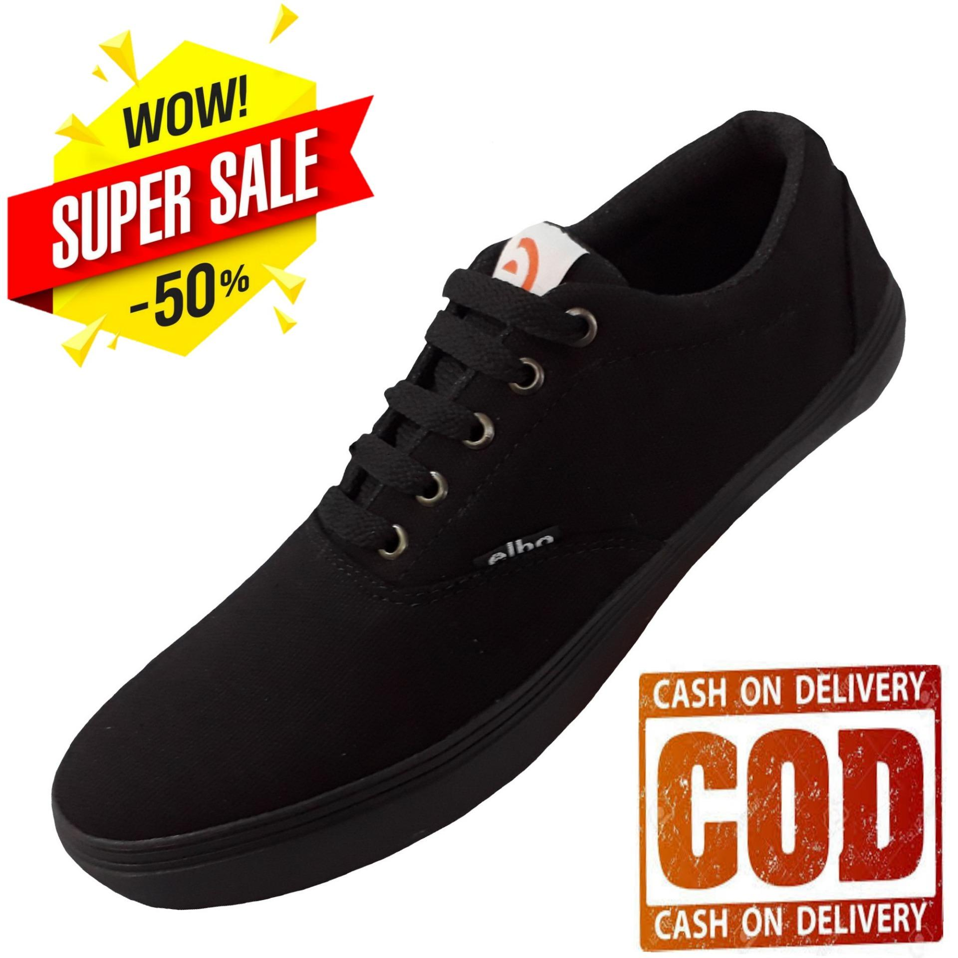 Sepatu Santai Pria Trendi Sneaker Casual - Hitam ea73f9243f
