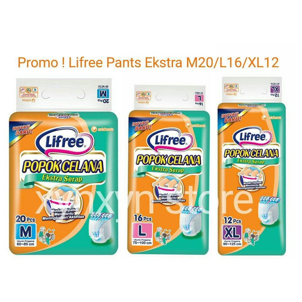 Mamy Poko PJ568 Lifree Popok Celana Dewasa Ekstra Serap Lifree Pants Extra Best .