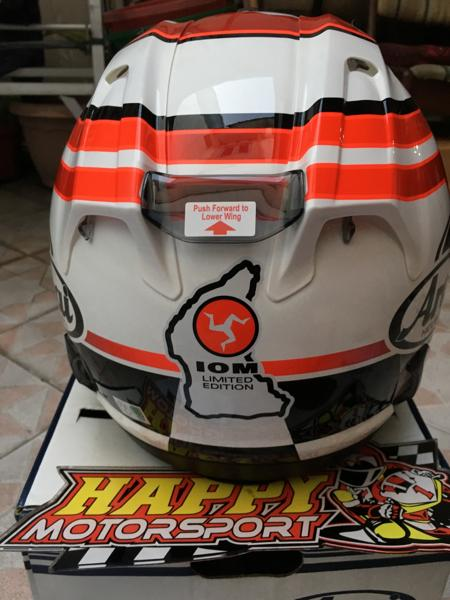Helm Arai IOM TT 2016 merah original Japan size XL