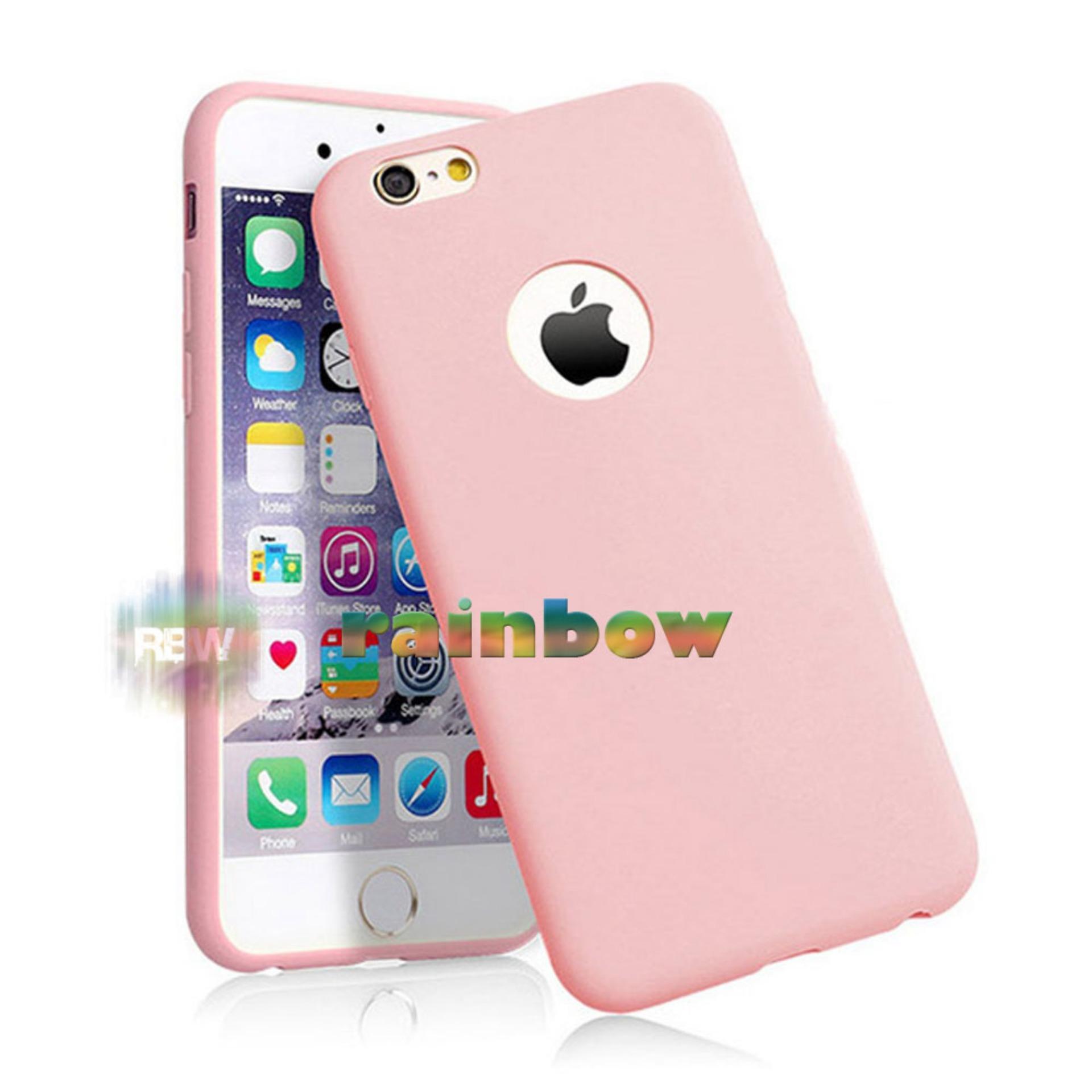 Lize Apple Iphone8 Plus / Iphone 8 Plus Ukuran 5.5 inch Softshell / Jelly Case / Soft Case Iphone 8+ / Soft Back Case / Silicone Iphone8 Plus / Silicon / Silikon / Case Iphone / Casing iPhone 8+ / Casing Handphone Iphone 8+ - Pink