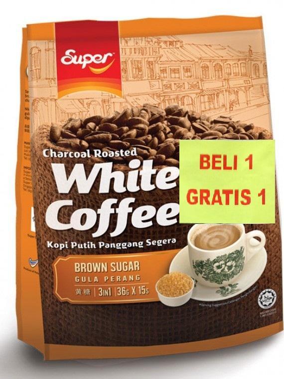 Promo Buy1 Get1..! Super White Coffee Brown Sugar 15's 500gr