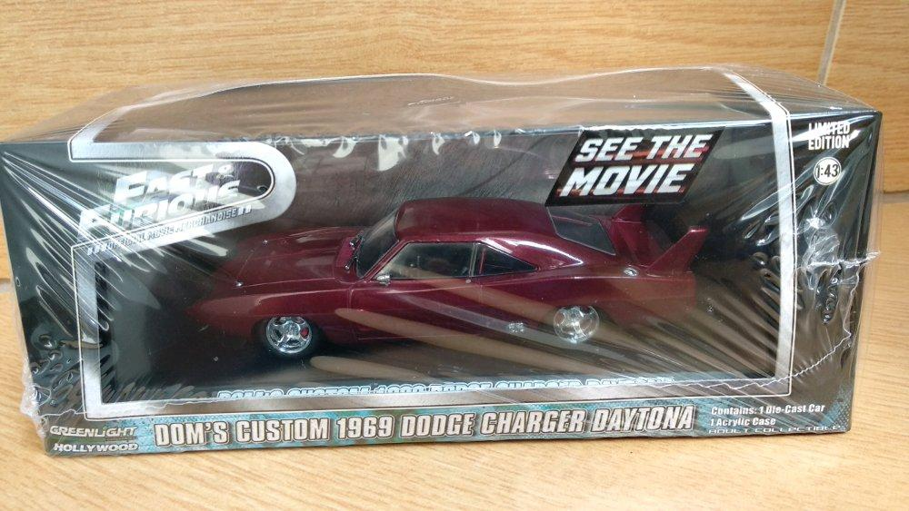 Doms Dodge Charger Daytona Fast Furious skala 43 Greenlight # Favorit Toys favorit_toys