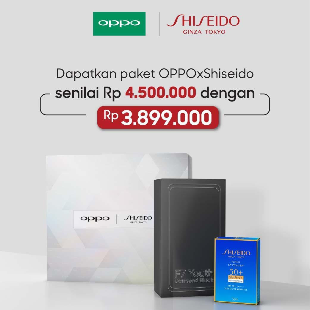 [Limited] OPPO x Shiseido - OPPO F7 Youth Special Package (Garansi Resmi Oppo Indonesia Gratis Ongkir)