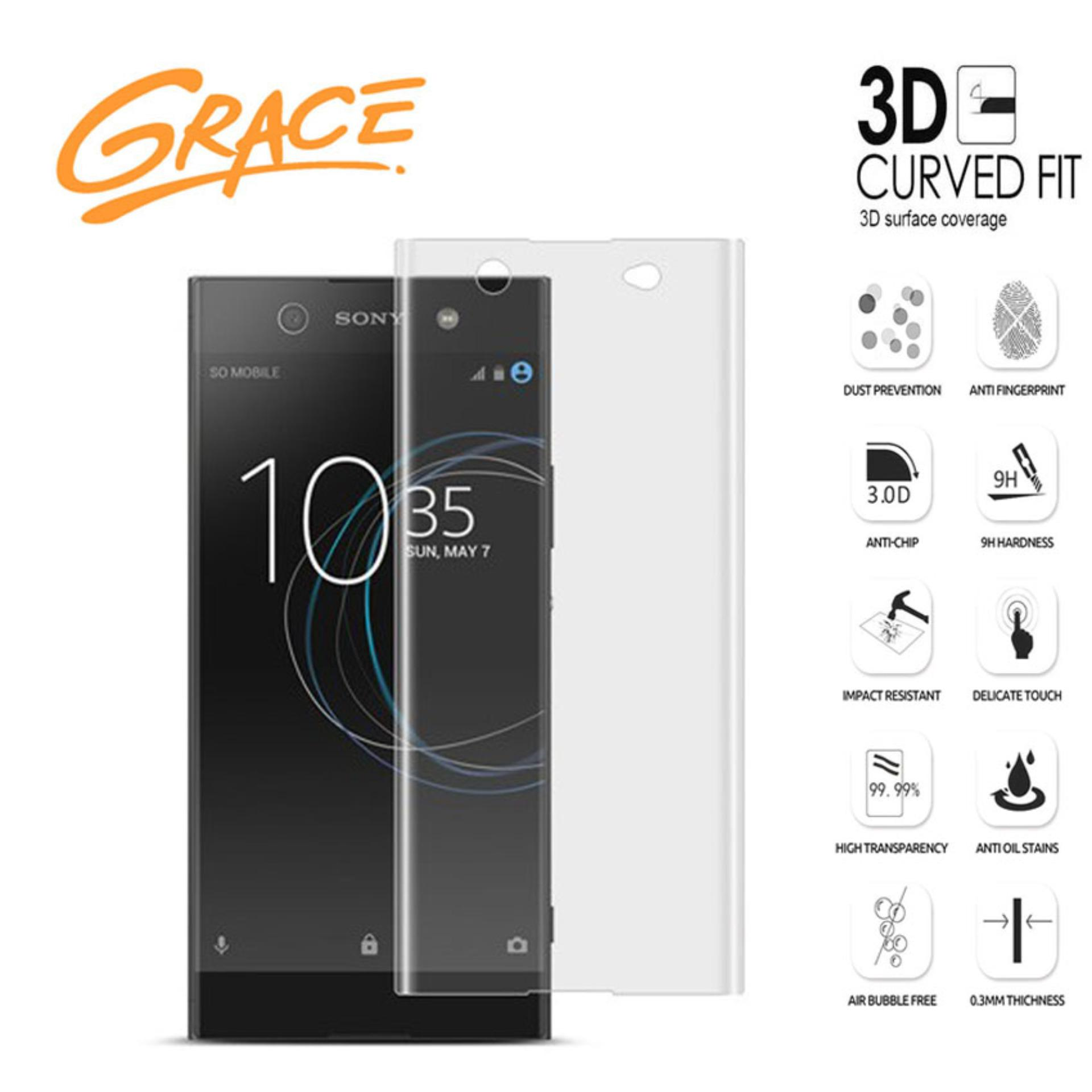 Grace Sony Xperia XA1 G3116 Tempered Glass 3D Curved Full Cover Clear