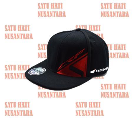 Hemat 10%!! Honda Ori Crf Snapback Cap U002F Hat U002F Topi - Black Hitam - ready stock