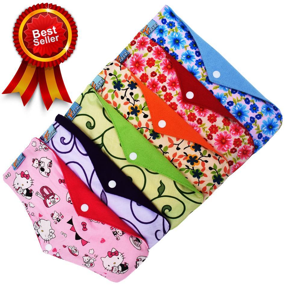 Faaza Store Menspad 6Pcs NIGHT 31cm MenstrualPad / Pembalut Kain Cuci Ulang Wanita-Motif Katun