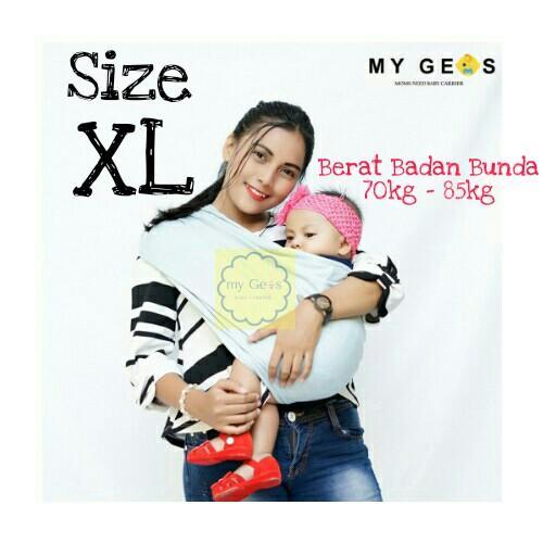 Geos / Gendongan Kaos / Gendongan Bayi / Gendongan Anak Size XL