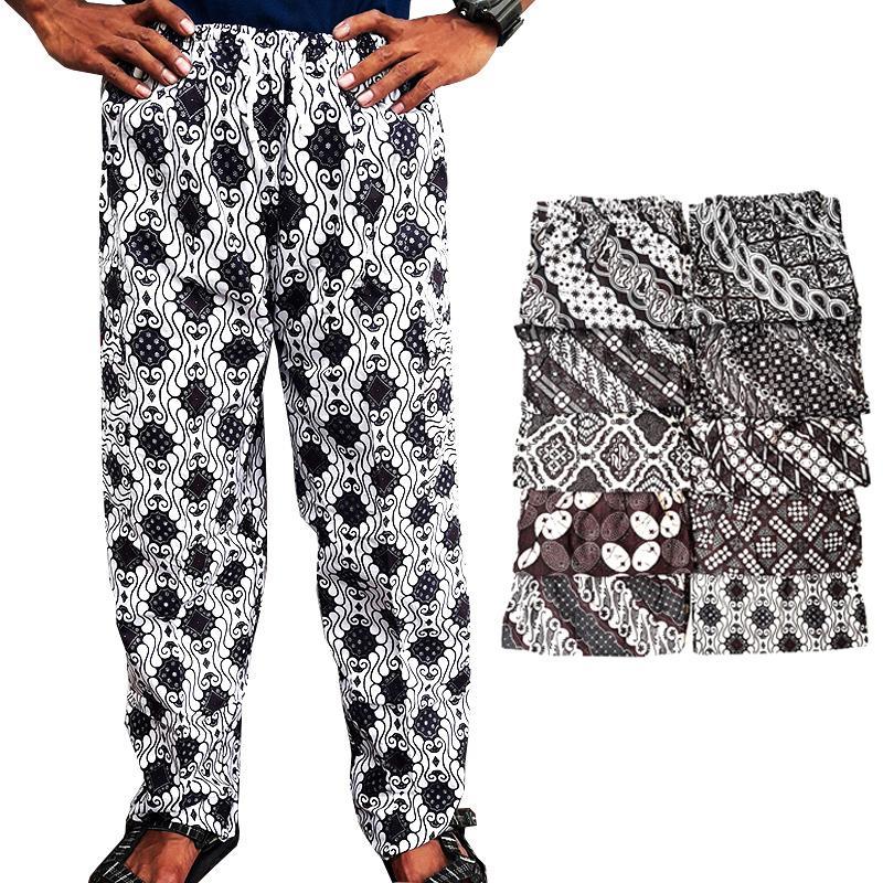 Lasido Celana Panjang Batik Boim Betawi Dewasa Motif Random All Size Pinggang Karet Nyaman Santai