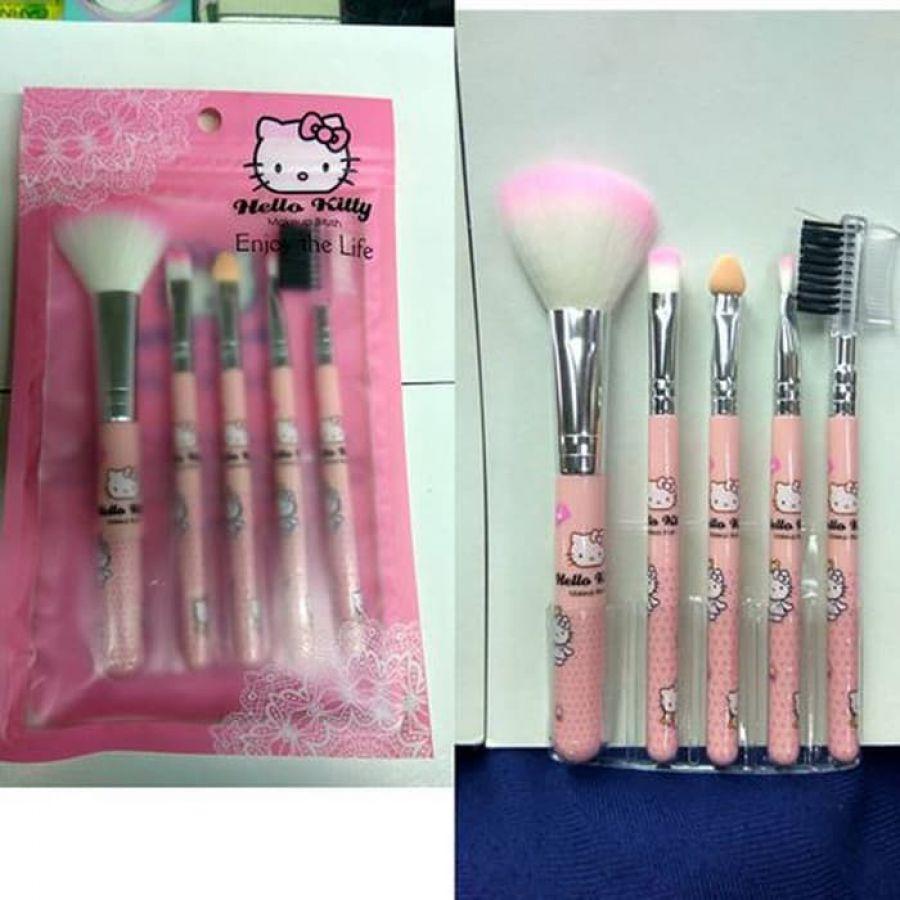 Harga Kuas Makeup Hello Kitty Terbaru Paling Murah Brush Kaleng Set 7 Pcs Isi 5