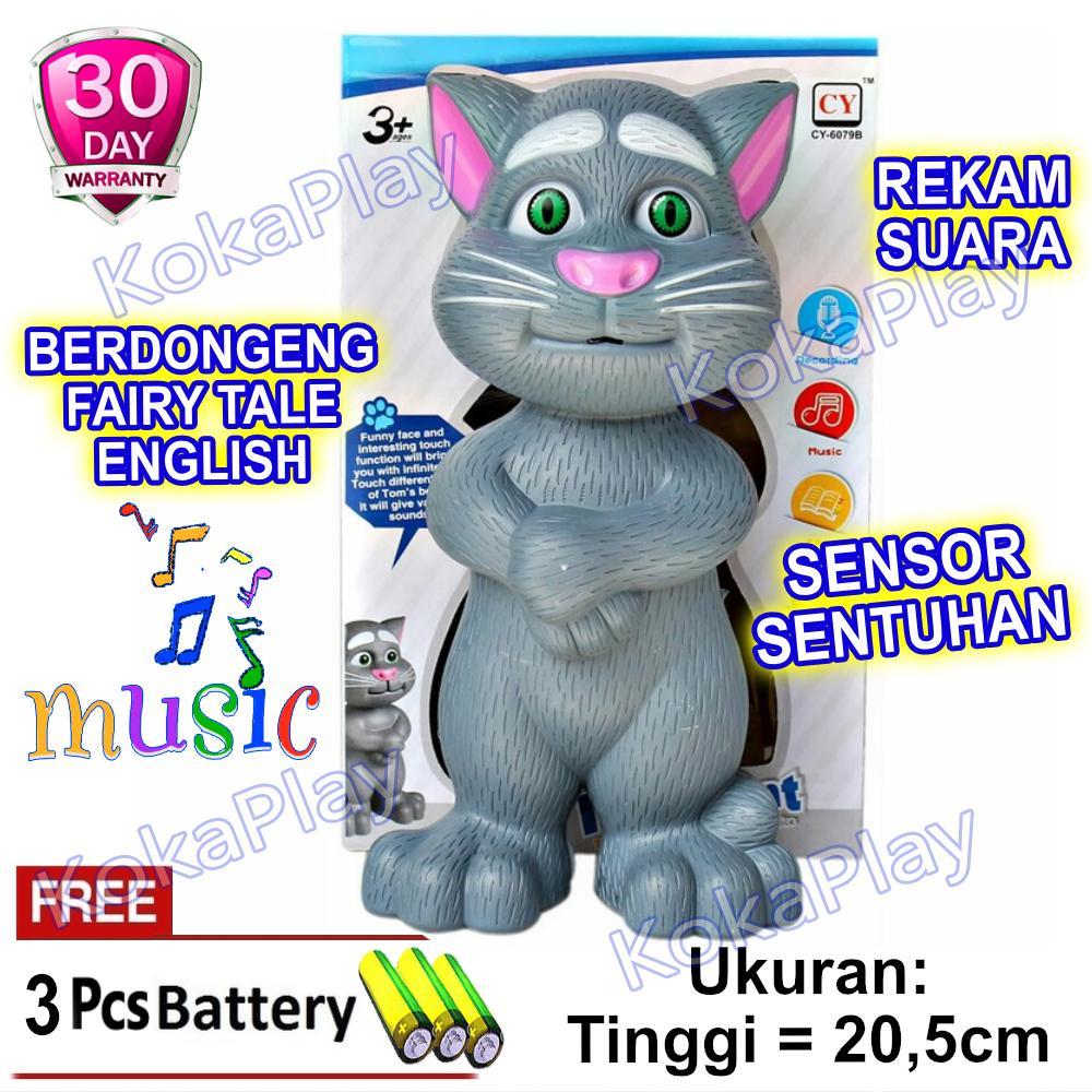 KokaPlay Boneka Intelligent Talking Tom Cat Mainan Anak Laki Laki Perempuan Edukasi Touch Sensor Sentuh Boneka