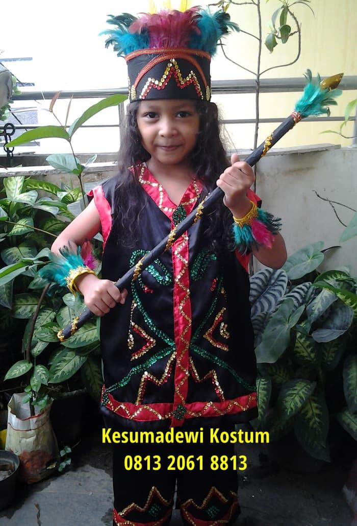 Terbaru! Dayak | Baju Adat Kostum Anak Karnaval Parade Pawai Pentas Seni - ready stock