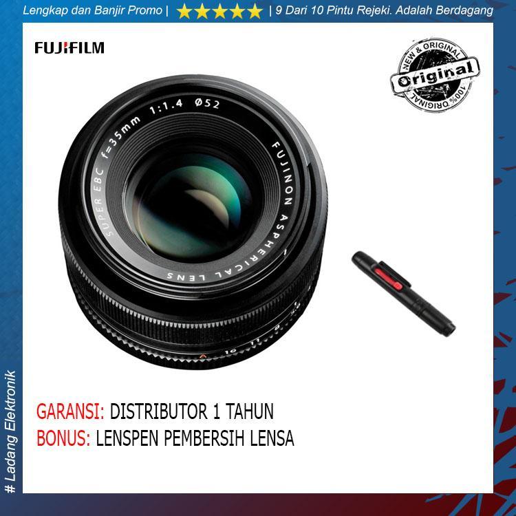 Fujinon XF 35mm F1.4 R Lensa Kamera (Free Pembersih Lensa) / Garansi Distributor 1 Tahun - Hitam