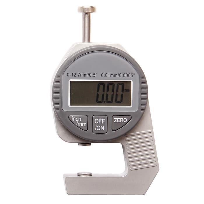 Harga Diskon!! Digital Thickness Gauge 0-12.7Mm Alat Ukur Ketebalan Kawat Kertas