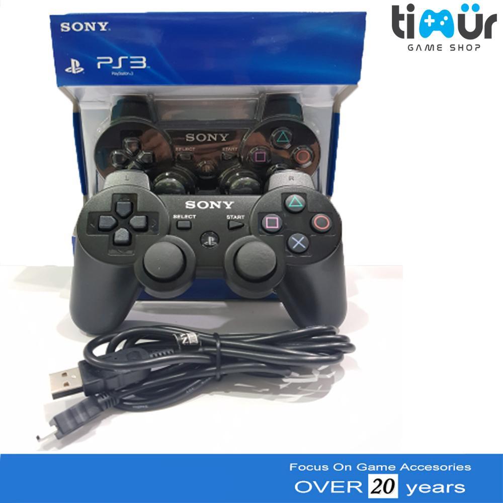 Stik Stick PS3 Wireless Original Ori Pabrik Hitam + Kabel USB Charger