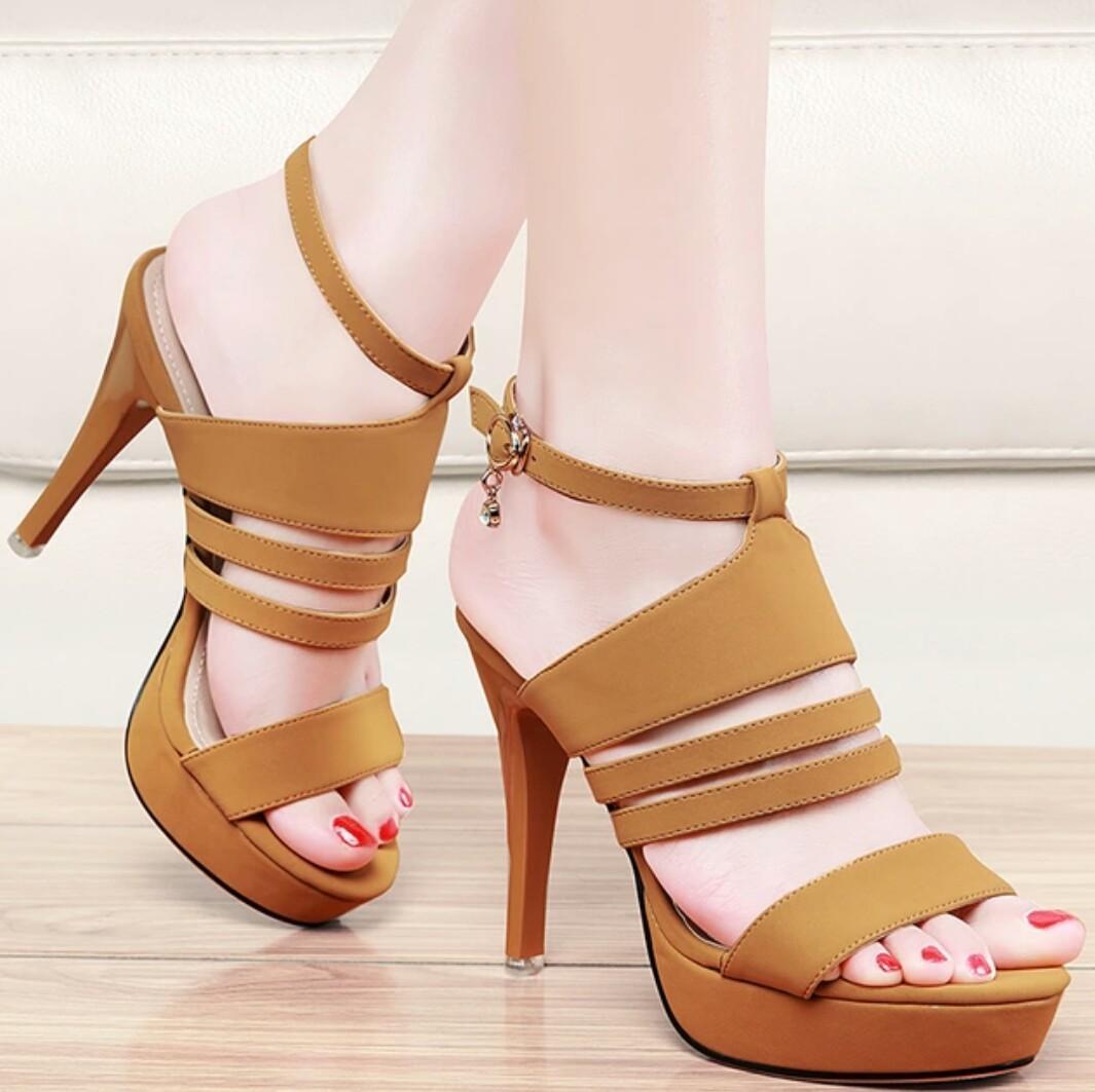 Rafishashoes- Sepatu High Heels Friska-[Tan]