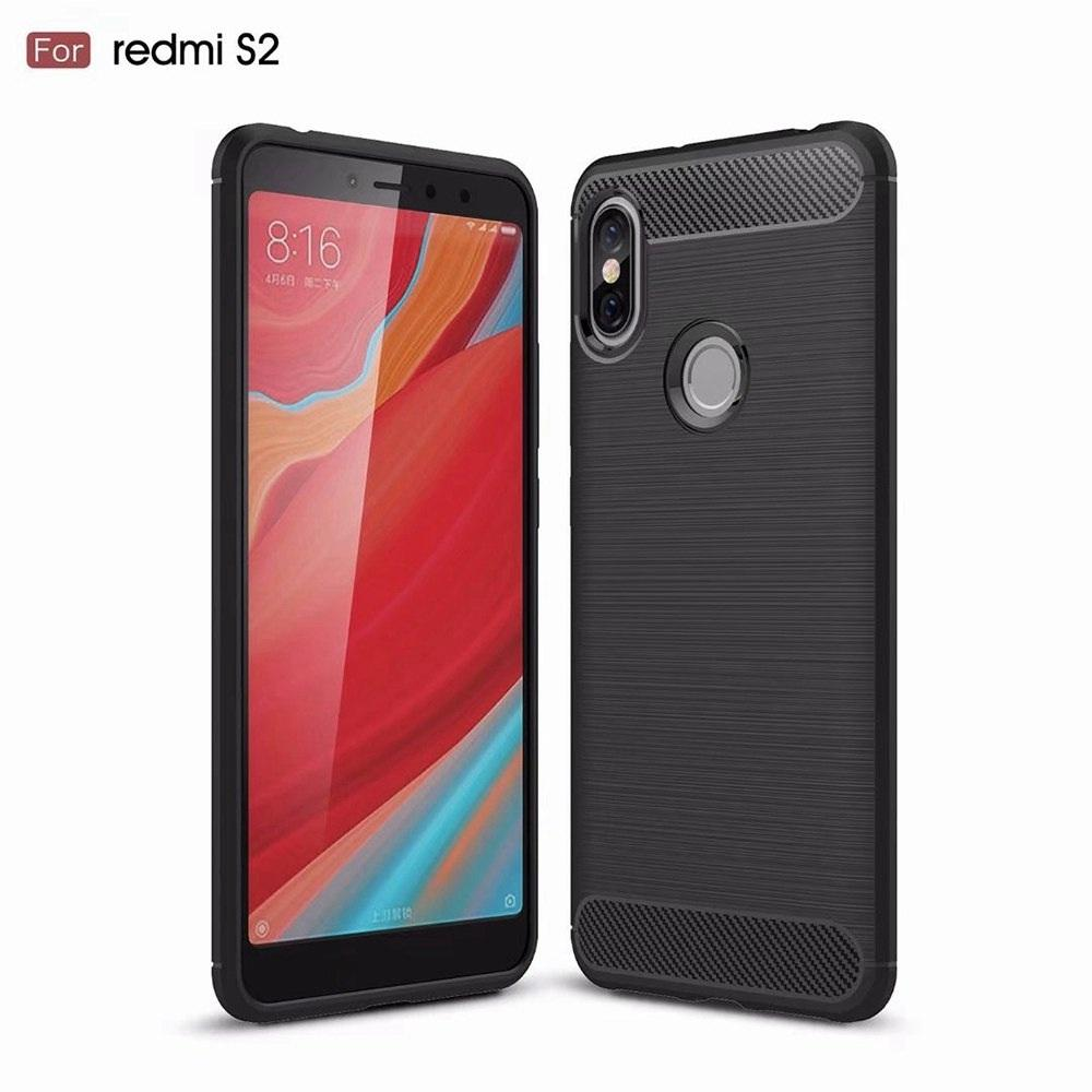 Xiaomi Redmi S2 / Redmi Y2 SoftCase Carbon Hybrid Brushed Armor Shockproof Black
