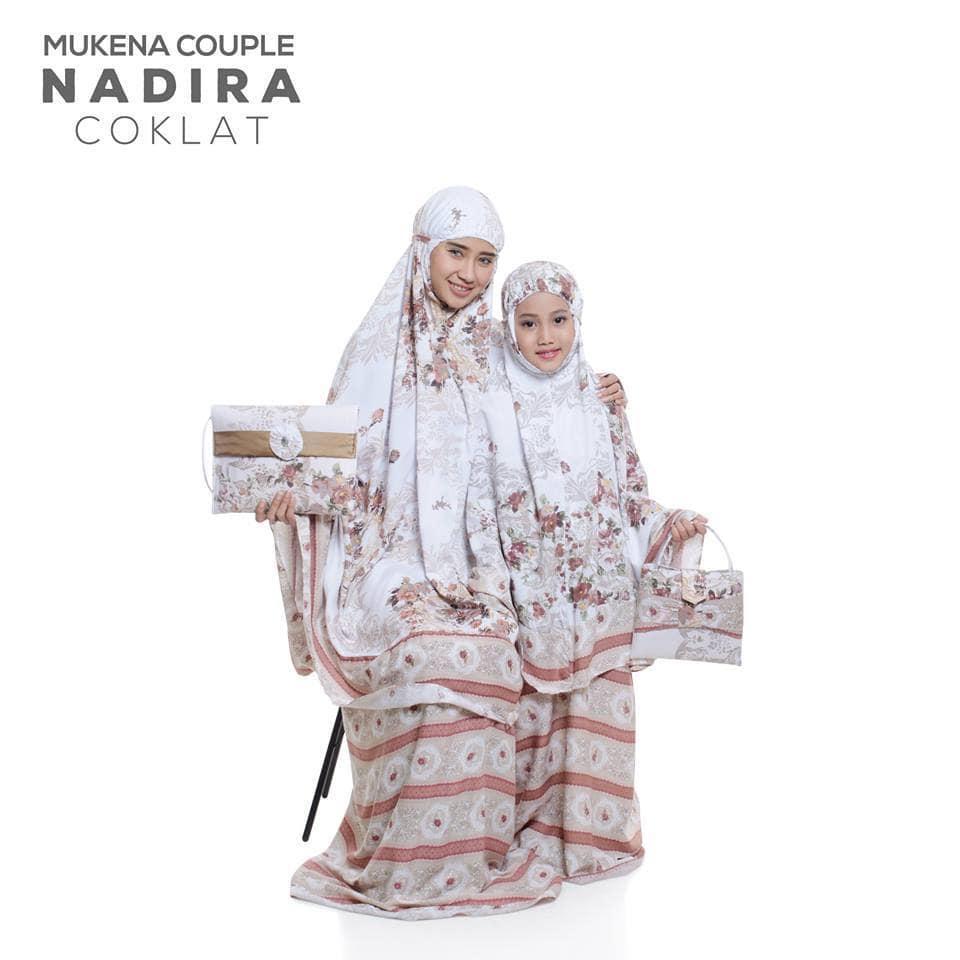 viza - MUKENA COUPLE BALI NADIRA TAS PESTA COKLAT (IBU ANAK)baju muslim wanita / baju muslimah / baju muslim wamita terbaru / baju muslim murah TERBARU!!