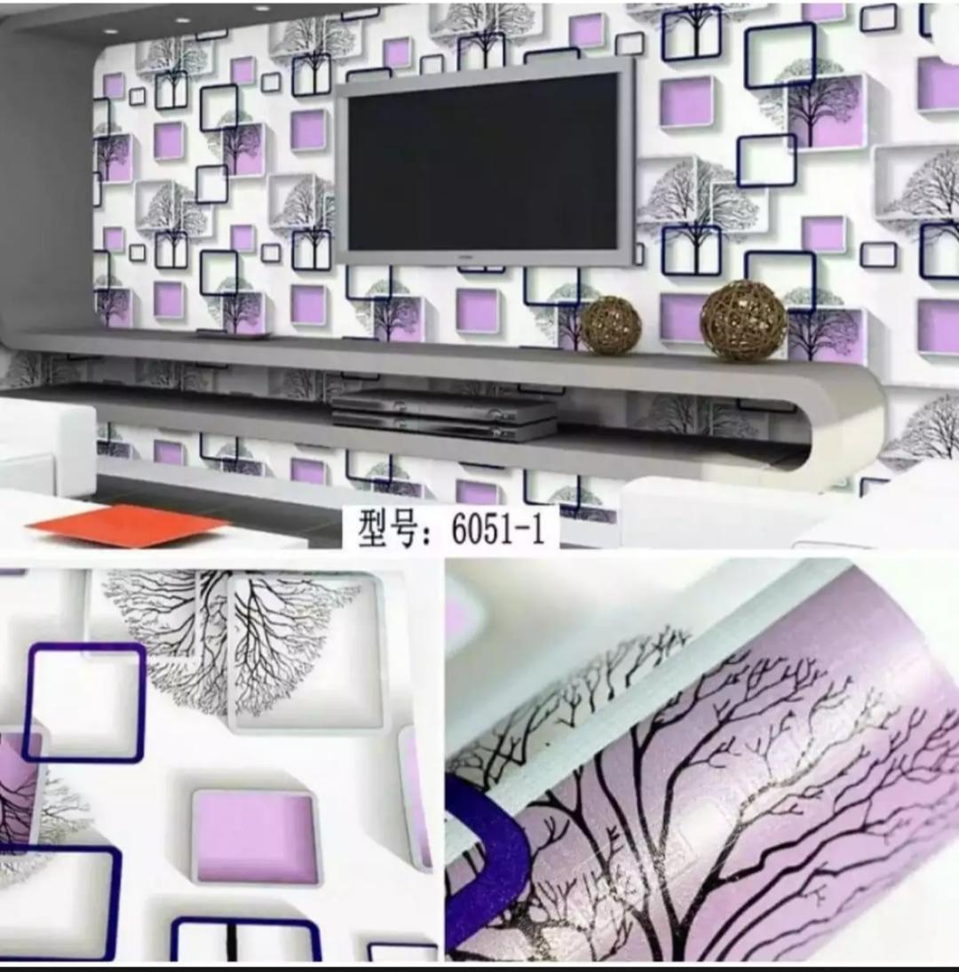Wallpaper Stiker Dinding Motif Dan Karakter Premium Higth Quality Size 45cm X 10m Kotak Ungu Gh046 By Baby Shop__ Ii.