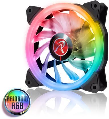 Fan Raijintek Iris 12 Rainbow RGB 256 Color - 3 PCs Fans Pwm - 6 Port RGB - Jual Produk Komputer & Laptop Murah Terbaik