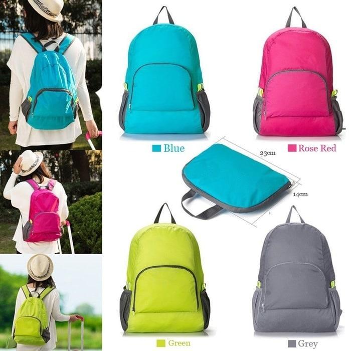 Foldable Backpack / Travel / Tas Punggung Lipat / Ransel Traveling - Multiwarna