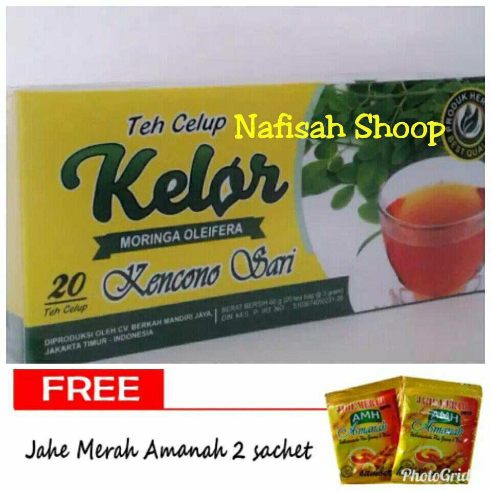 Buy Sell Cheapest Teh Kelor Kuncono Best Quality Product Deals Celup Daun Clup Sari Gratis 2 Caset Jahe Merah