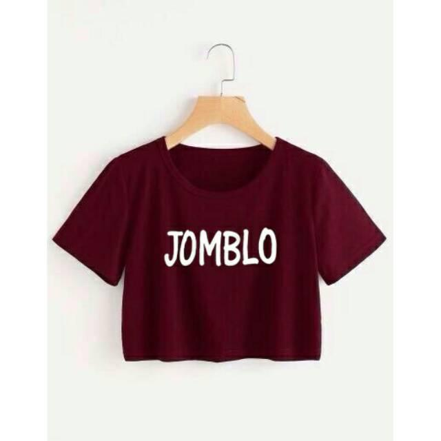JOMBLO CROP TEE / ATASAN WANITA / FIT TO L / BAJU MURAH / TUMBLR / KAOS / MODEL BARU / FASHION
