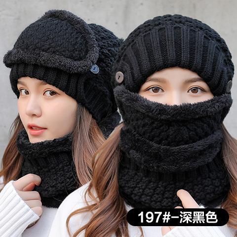 Topi musim dingin perempuan Gaya Korea tambah beludru lebih tebal bersepeda  Topi tahan angin Penghangat Pelindung e6eefec7f7