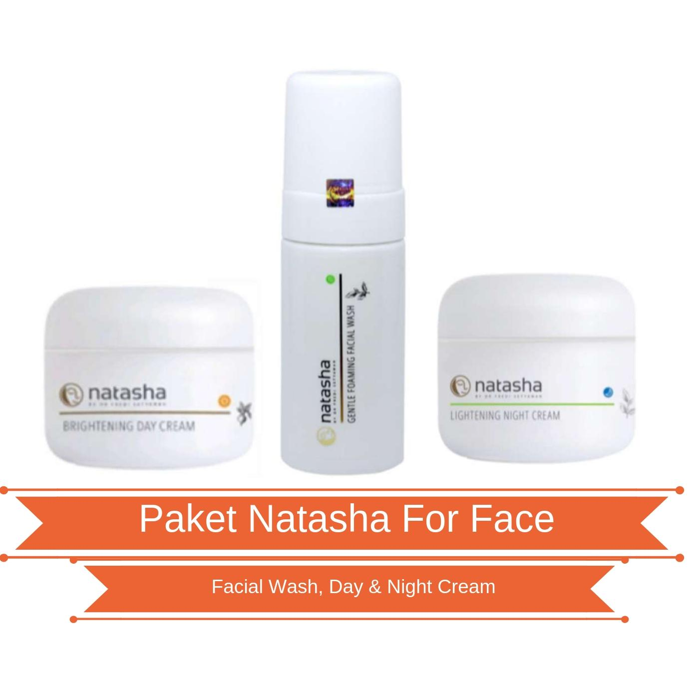 PAKET NATASHA GLOWING SKIN CARE (Brightening Day Cream, Lightening Night Cream, Gentle Foaming Facial Wash)
