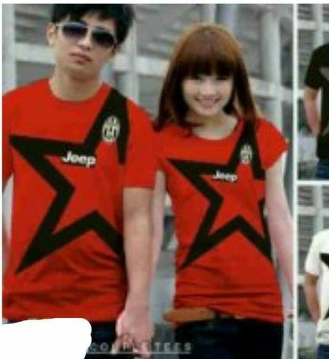 Tj-fashion kaos couple jeep big star-kaos couple fit to L-kaos