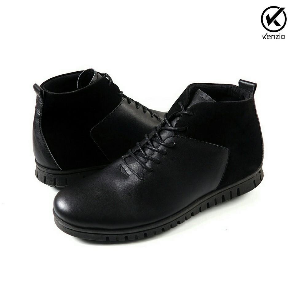 Sepatu Pantofel Formal Wingtip Pria Kasual Keren Kulit Asli GEOX U ALBERT  SHOES BLACK 8815c7e918