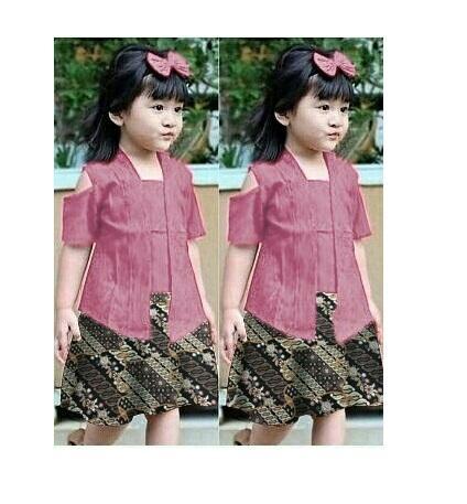 Honeyclothing Kebaya Grina / Setelan Batik / Batik Anak Cewek / Kebaya Anak - Anak / Pakaian Anak