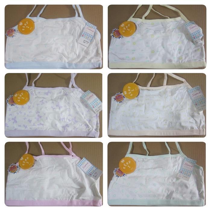 Pakaian Dalam Bra / BH Miniset Anak Perempuan Step 1 Katun Lembut Motif Cantik Sorex Y1012