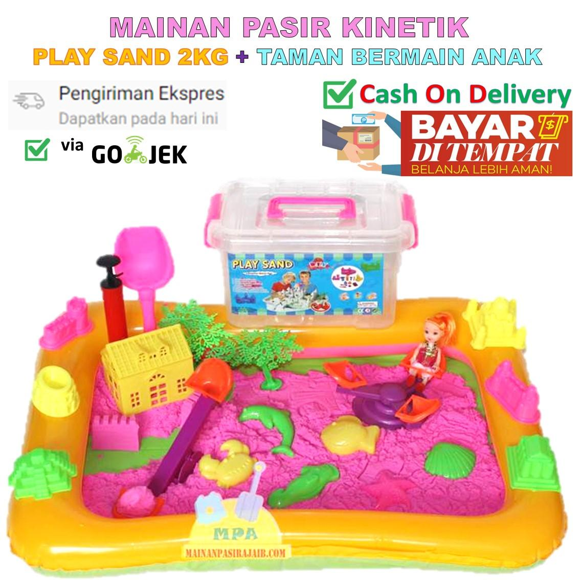 Mainan Pasir Ajaib Magic Sand Play Sand 2 Kg dengan Taman Bermain Anak 74f5d9f8fe