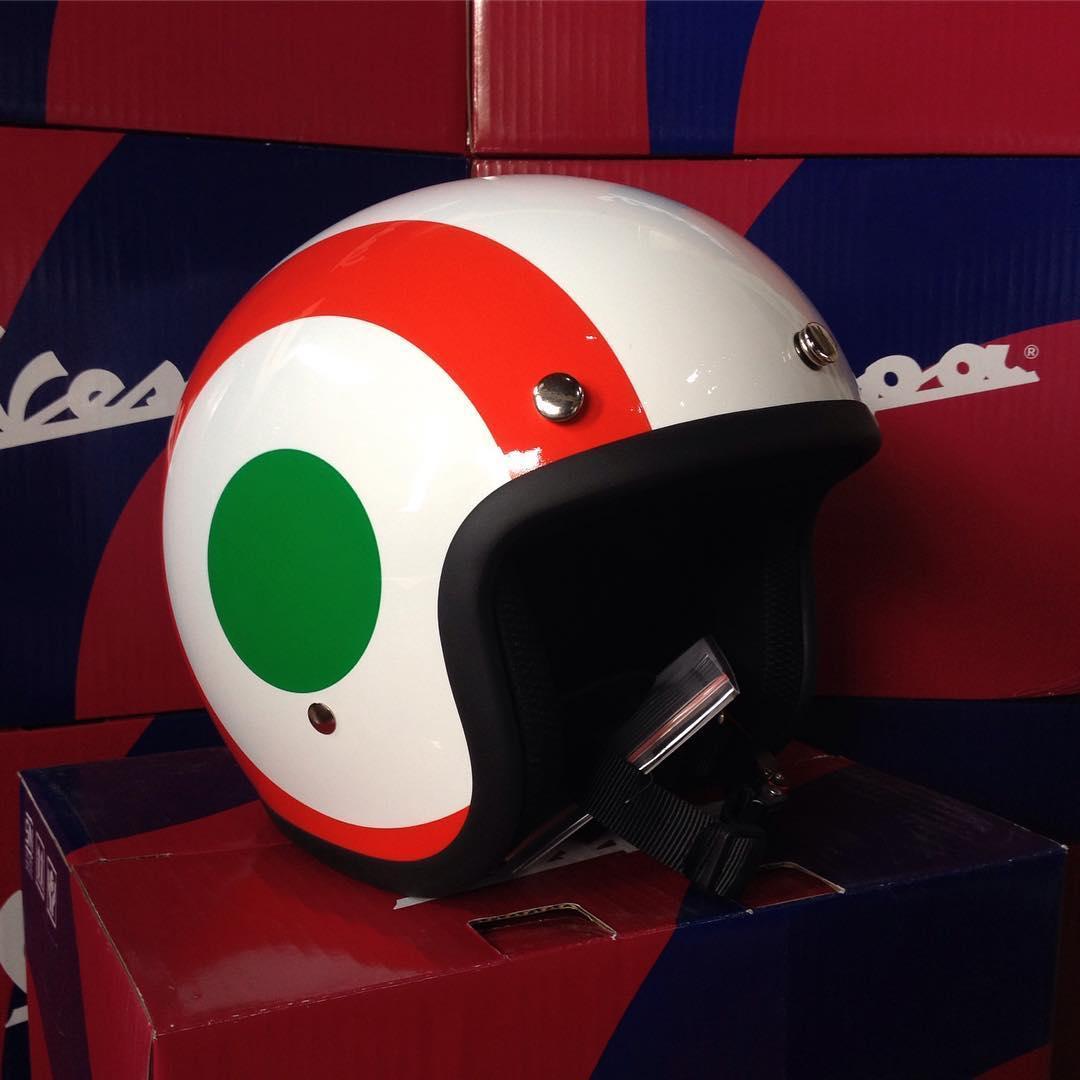 PALING DICARI HELM VESPA ITALIAN FLAG OPEN FACE