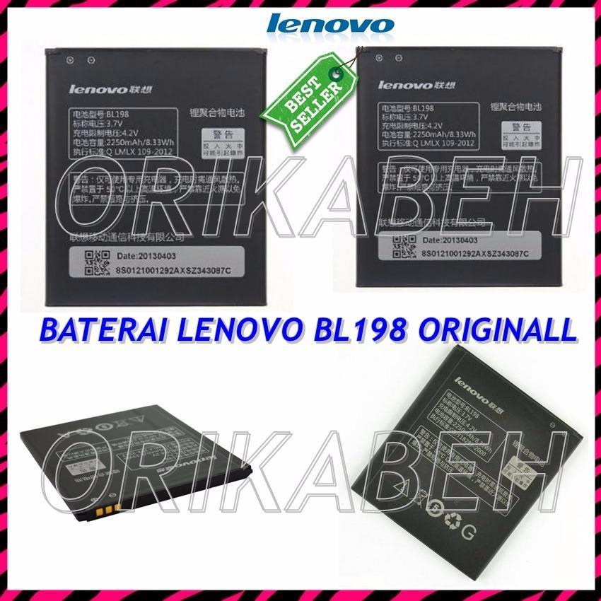 Lenovo Baterai / Battery BL198 For Lenovo S880 / S920 / S890 / K860 / A859 / A800 Original - Kapasitas 2500 mAh ( orikabeh )
