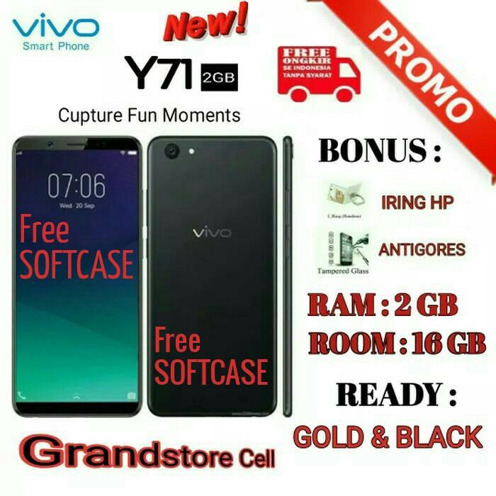 VIVO Y71 RAM 2/16 GARANSI RESMI VIVO INDONESIA - Hitam          / handphone / hp / hp murah / xiaomi / samsung / oppo / iphone / vivo / asus / tablet / redmi / asus zenfone / lenovo / sony / tam / garansi / garansi tam