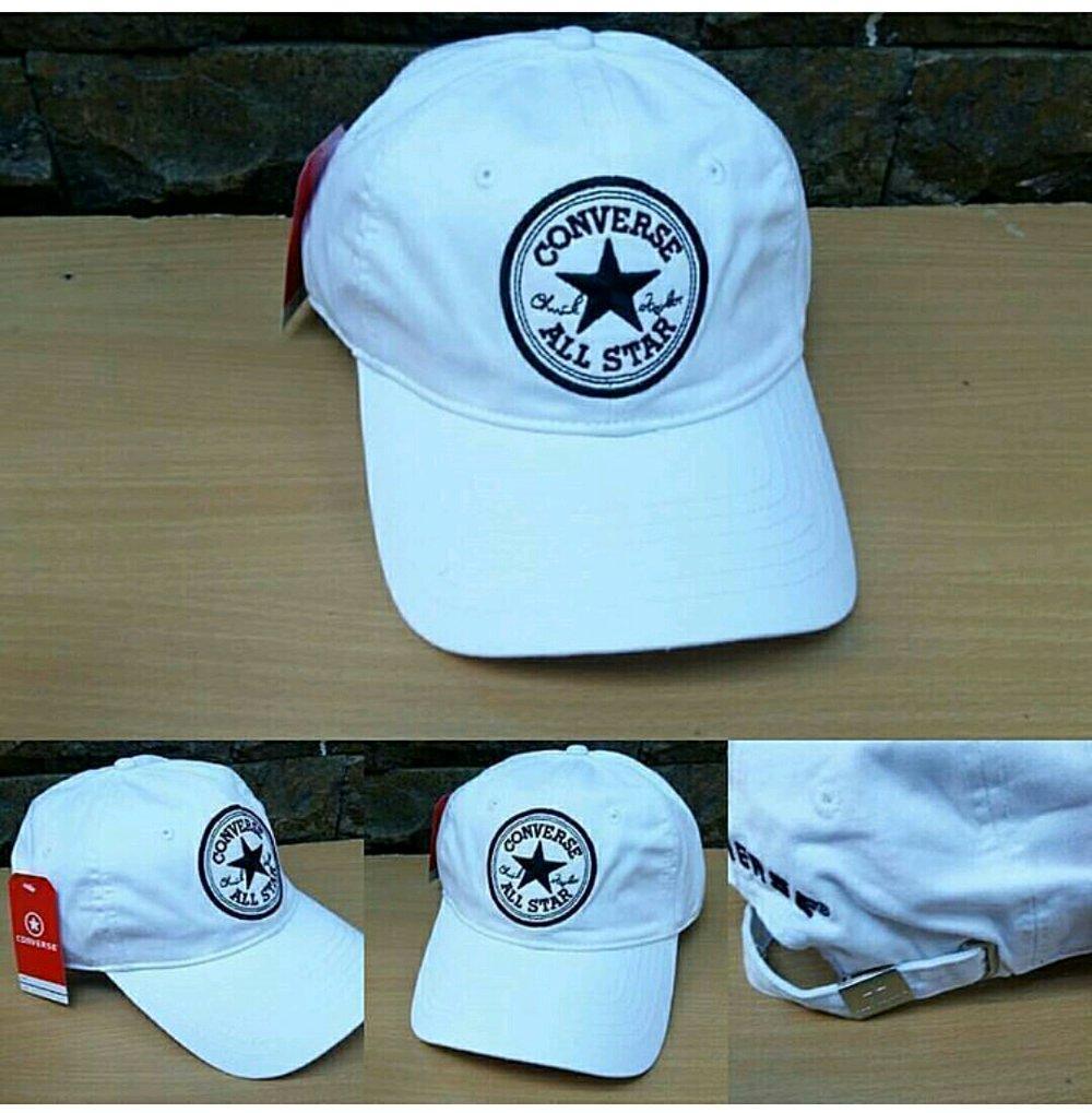 Topi Converse Import Ori - White di lapak Topi KanBaru topikanbaru