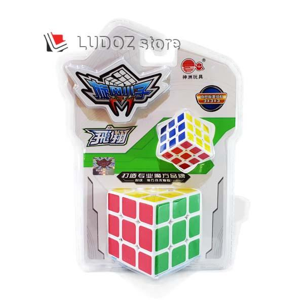 Rubik 3x3 White Base Stickerless FREE 1 Rubik 3x3x3 ukuran kecil Magic Cubic Rubik's Box Licin