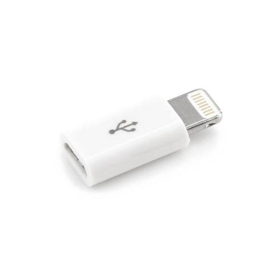 Delcell Converter Micro Usb To Apple iPhone/iPad Lightning - Putih